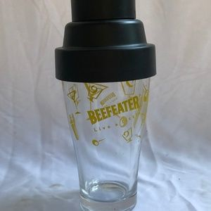 1950s Beefeater Cocktail Shaker Glass MCM